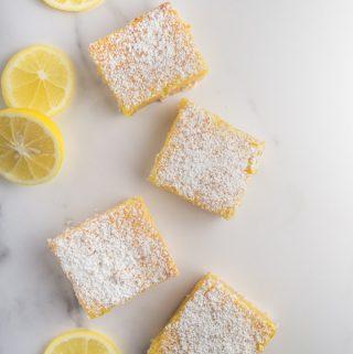 Sweet & Tangy Meyer Lemon Bars