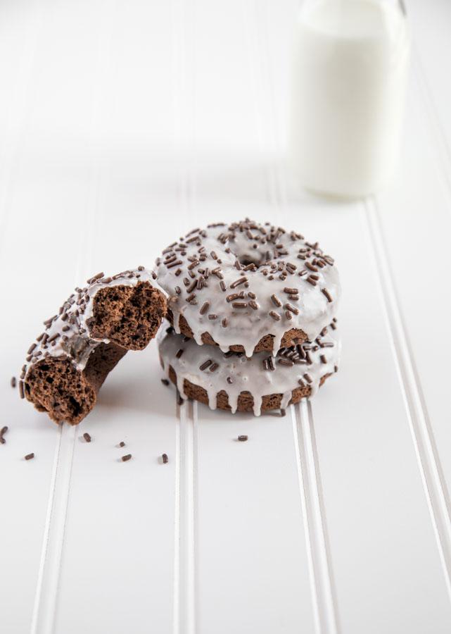 chocolate buttermilk donuts vanilla glaze sprinkles