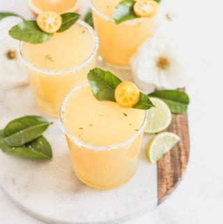 Kaffir Lime Margaritas