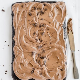Chocolate Espresso Sheet Cake