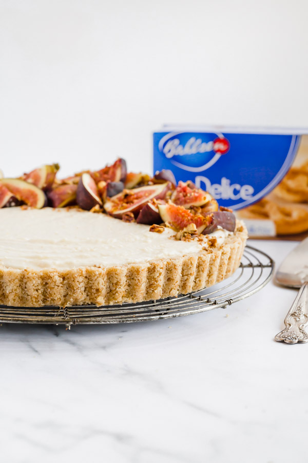 Maple Marscapone Fig Tart with Bahlsen Cookie Crust