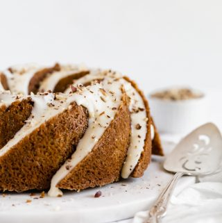 Hazelnut Chai Spice Cake with Browned Butter Glaze