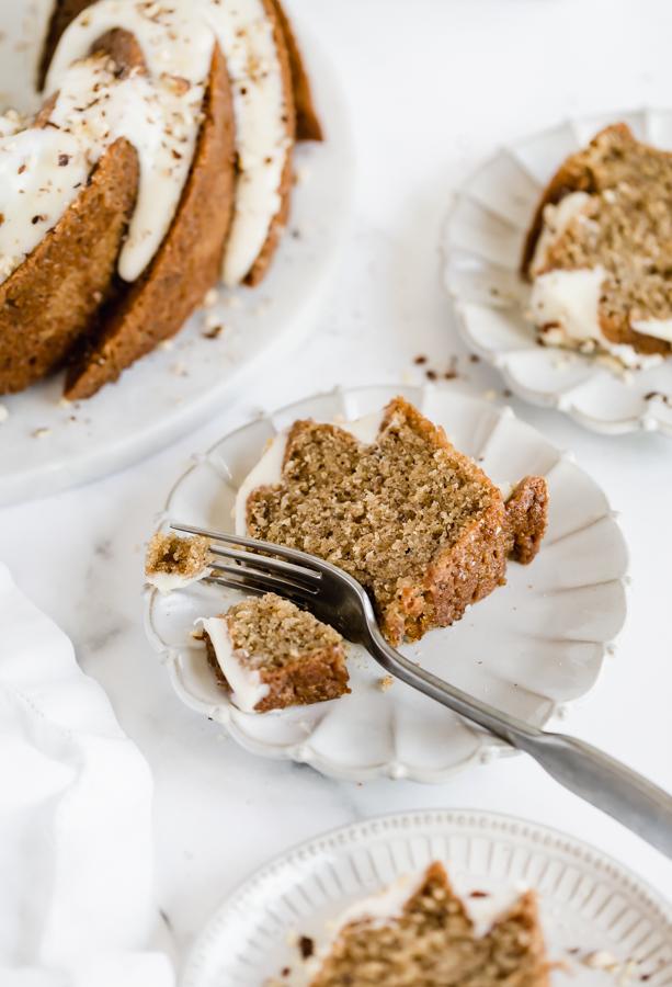 Hazelnut-chai-spice-bundt-cake