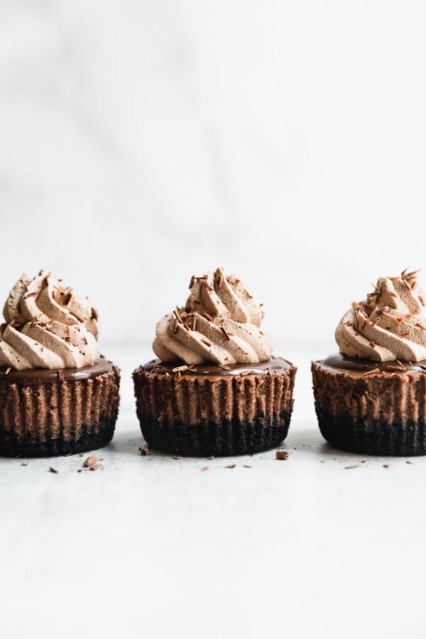 mini-triple-chocolate-cheesecakes
