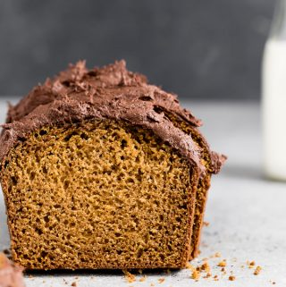 pumpkin-bread-chocolate-buttercream